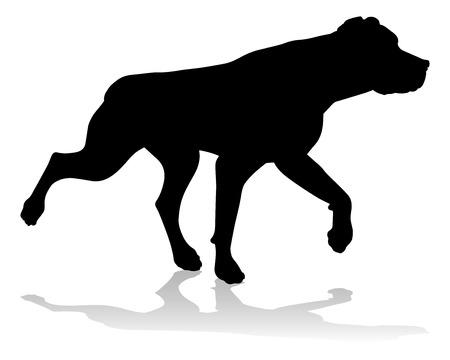Dog Silhouette Pet Animal Stock Vector - 118452893