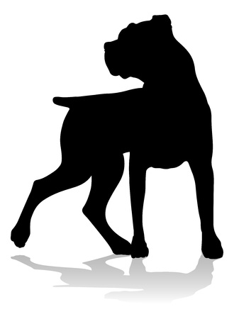 Dog Silhouette Pet Animal Иллюстрация