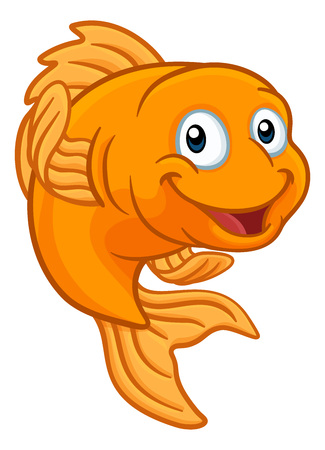 Gold Fish or Goldfish Cartoon Character