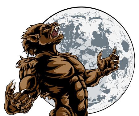 Heulendes Vollmond-Werwolf-Monster