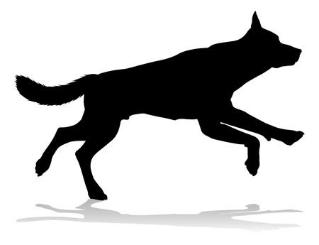 Dog Silhouette Pet Animal Illustration