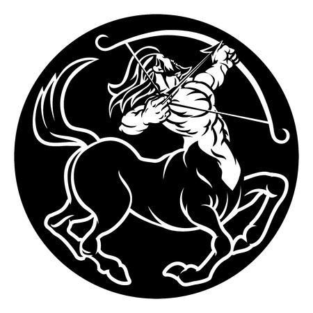 Los signos del zodíaco Sagitario Centauro Icono