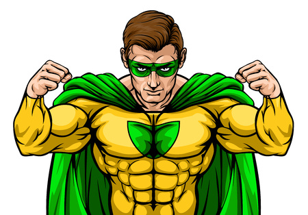 A tough superhero cartoon super hero character or sports mascot