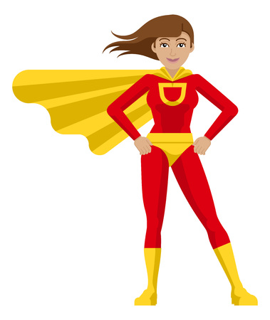 Superhero Woman Cartoon