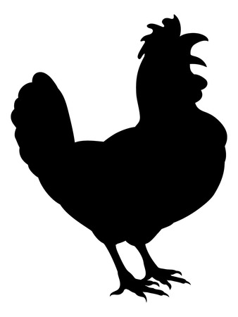 Chicken Rooster Farm Animal Silhouette