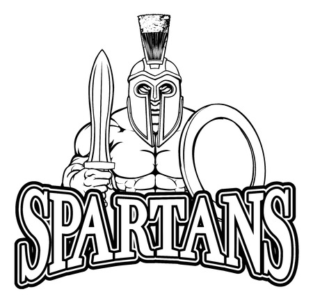 Spartan Trojan Sports Mascot Illustration