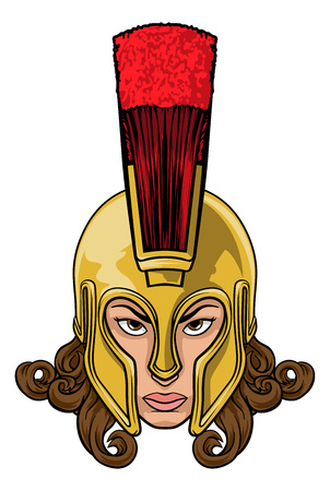 Spartan Trojan Athena Britannia Woman Warrior
