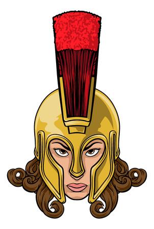 Troyano espartano Athena Britannia Woman Warrior