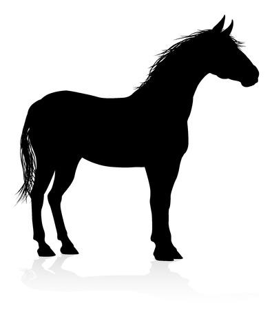 Silueta animal caballo