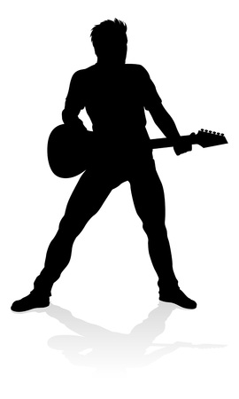 Musiker Gitarrist Silhouette