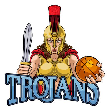 Spartan Trojan Gladiator Basketball Warrior Woman