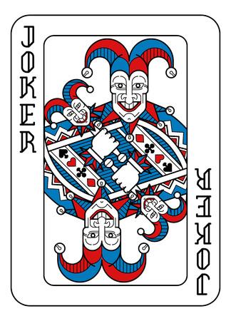 Carte da gioco Joker rosso blu e nero