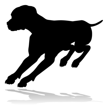 Dog Silhouette Pet Animal Vector Illustration