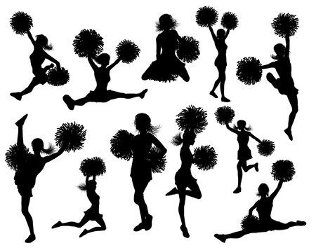 Cheerleader Detailed Silhouettes