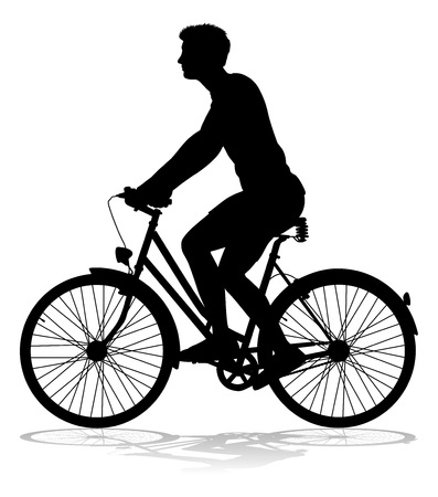 Bike Cyclist Riding Bicycle Silhouette