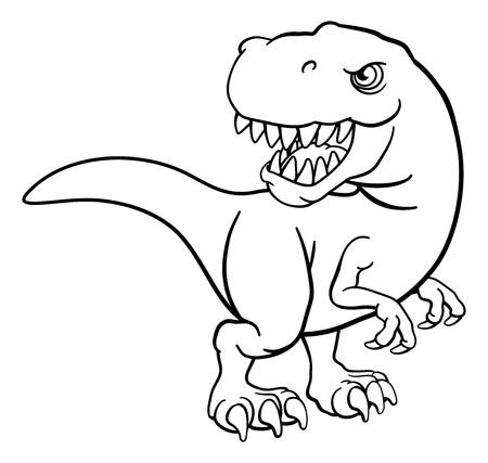 Tyrannosaurus T Rex dinosaurio personaje de dibujos animados
