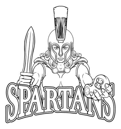 Spartan Trojan Gladiator Gamer Warrior Woman