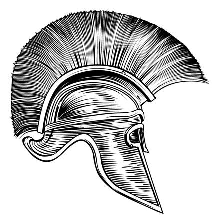 Casque de gladiateur romain guerrier troyen spartiate