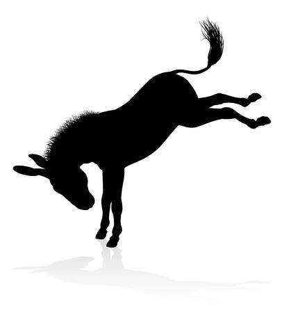 Silhouette animale âne