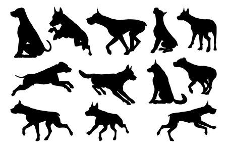 Dog Silhouettes Animal Set