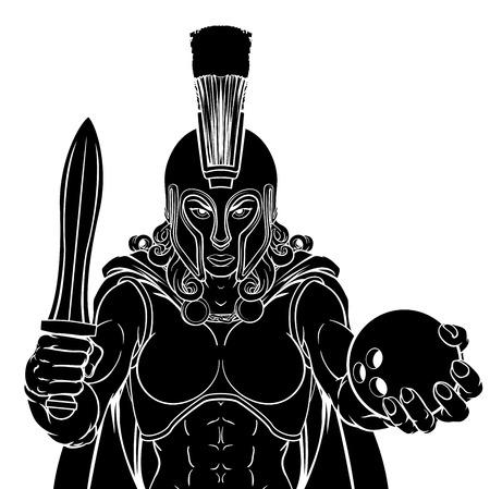 Spartan Trojan Gladiator Bowling Warrior Woman