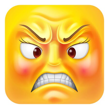 Angry Woman Emoji Emoticon Icon Cartoon Character