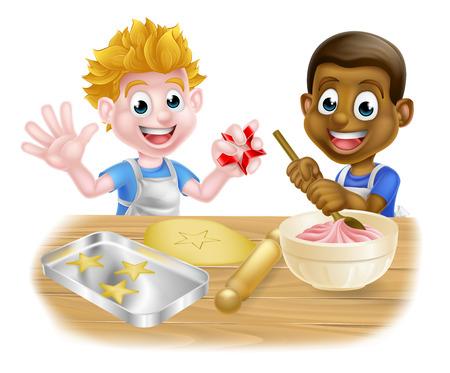 Boulangers de garçon de dessin animé