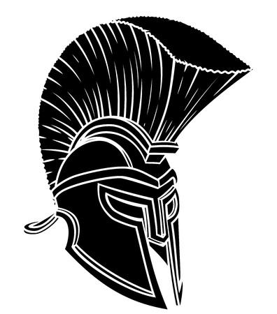 Gladiator Spartan Trojan Roman Helmet Illustration
