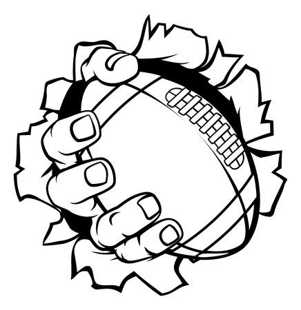 Football Ball Hand Tearing Background