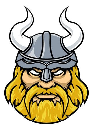 Mascota de personaje de deportes vikingos Ilustración de vector