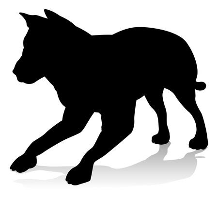 Dog Pet Animal Silhouette Vector Illustration