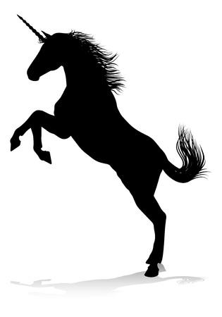 Unicorn silhouet gehoornd paard
