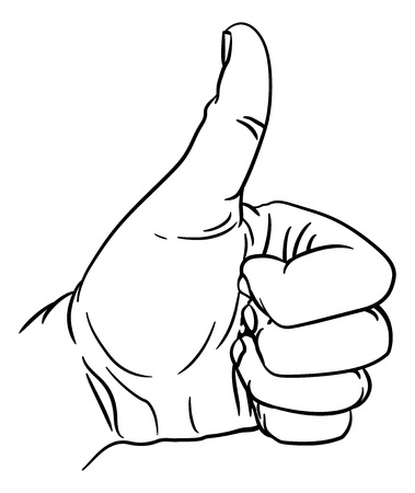 Hand Thumbs Up Gesture Thumb Out Fingers In Fist