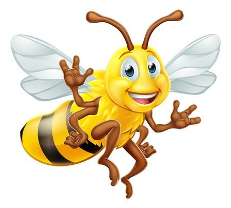 Bumble Bee Cartoon Character