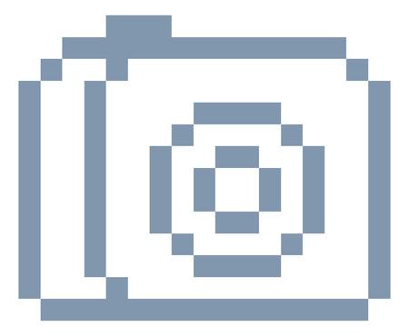 Camera Photos Pixel 8 Bit Video Game Art Icon