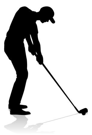 Golfer Golf Sports Person Silhouette