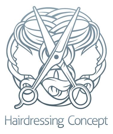 Hairdresser Stylist Hair Salon Concept