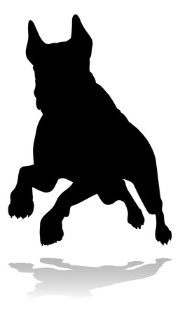 Dog Silhouette Pet Animal Stock Illustratie