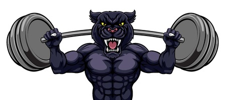Culturista de levantamiento de pesas de la mascota de la pantera