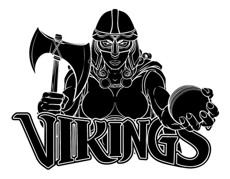 Viking Trojan Celtic Knight Cricket Warrior Woman