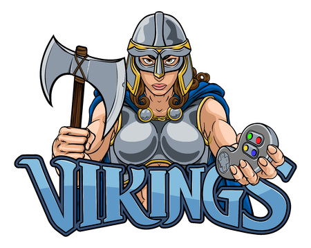 Viking Trojan Celtic Knight Gamer Warrior Woman