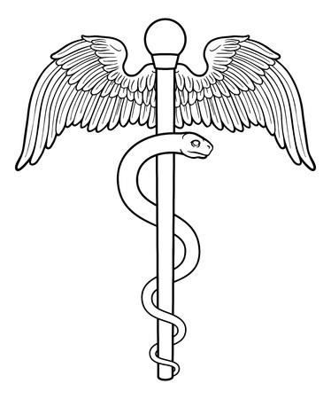 Rod of Asclepius Aesculapius Medical Symbol Illustration