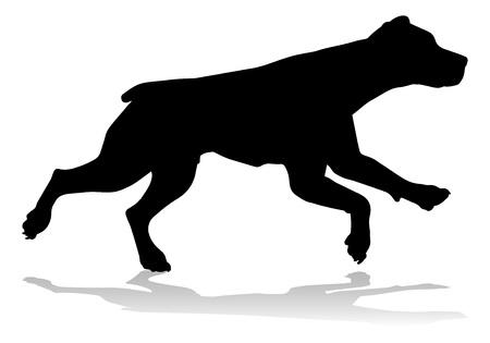 Dog Silhouette Pet Animal Illusztráció