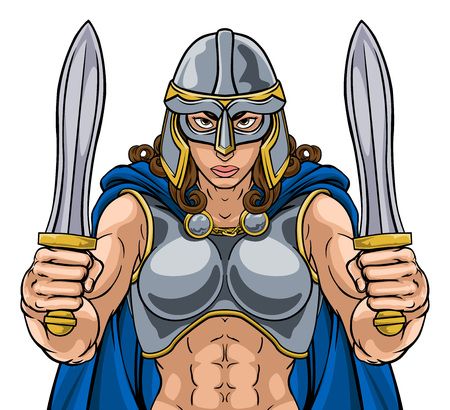 Viking Trojan Spartan Celtic Warrior Knight Woman