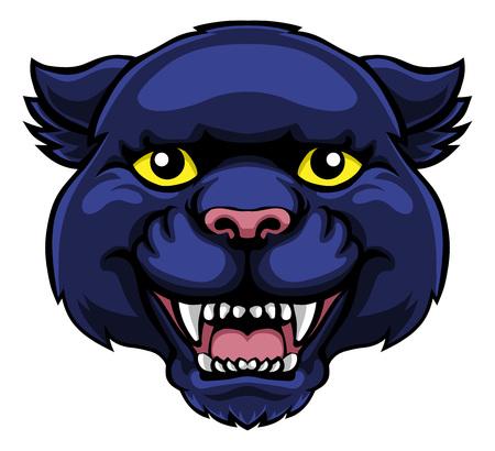 Panther Maskottchen niedliche glückliche Zeichentrickfigur