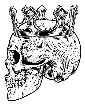 Skull Crown King Human Royal Skeleton