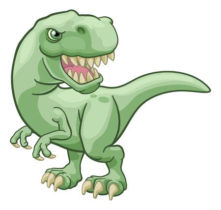 Personnage de dessin animé de dinosaure Tyrannosaurus T Rex Vecteurs