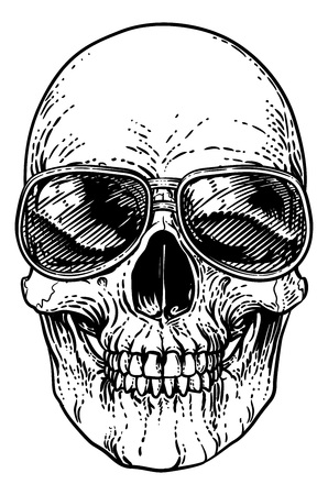 Skull Cool Sunglasses Skeleton in Shades