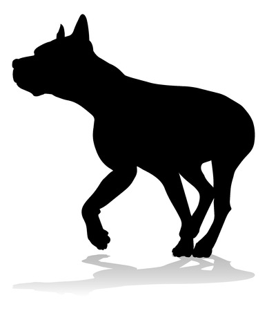 Dog Silhouette Pet Animal Stok Fotoğraf - 128867966