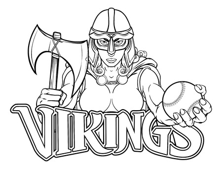 Viking Trojan Celtic Knight Baseball Warrior Woman